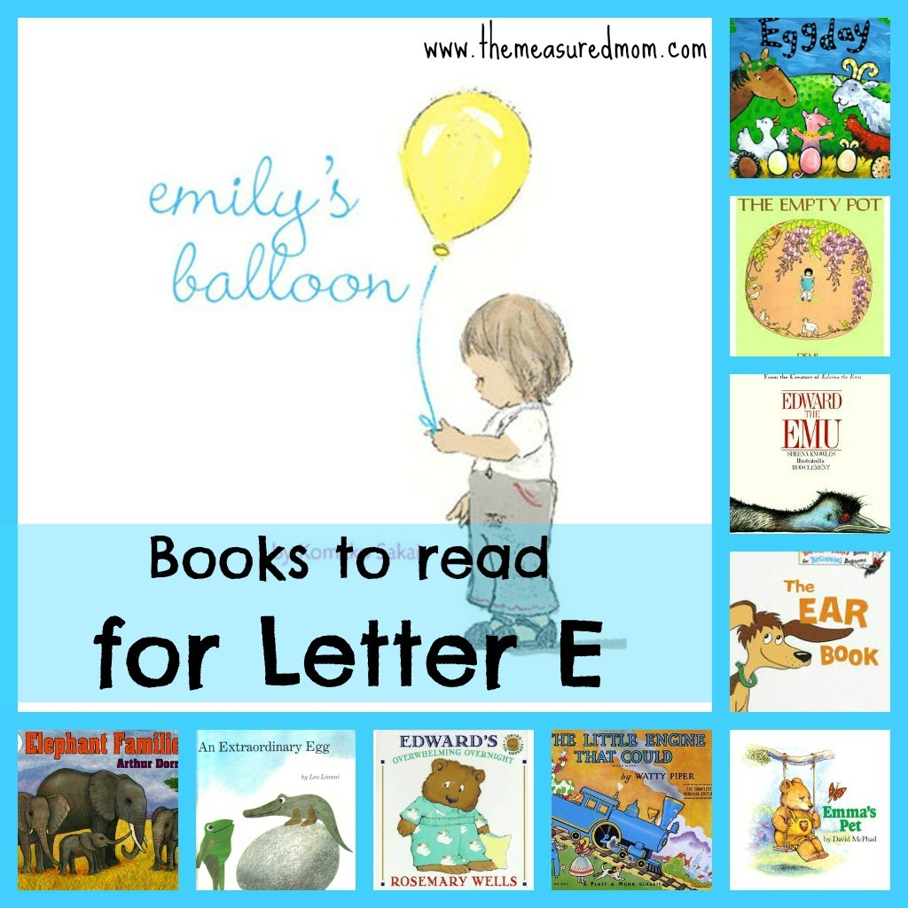 Check out our list of wonderful books to read for letter E!