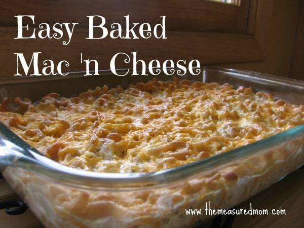 This hast to be one of the simplest baked macaroni and cheese recipes you'll find -- healthy, too!