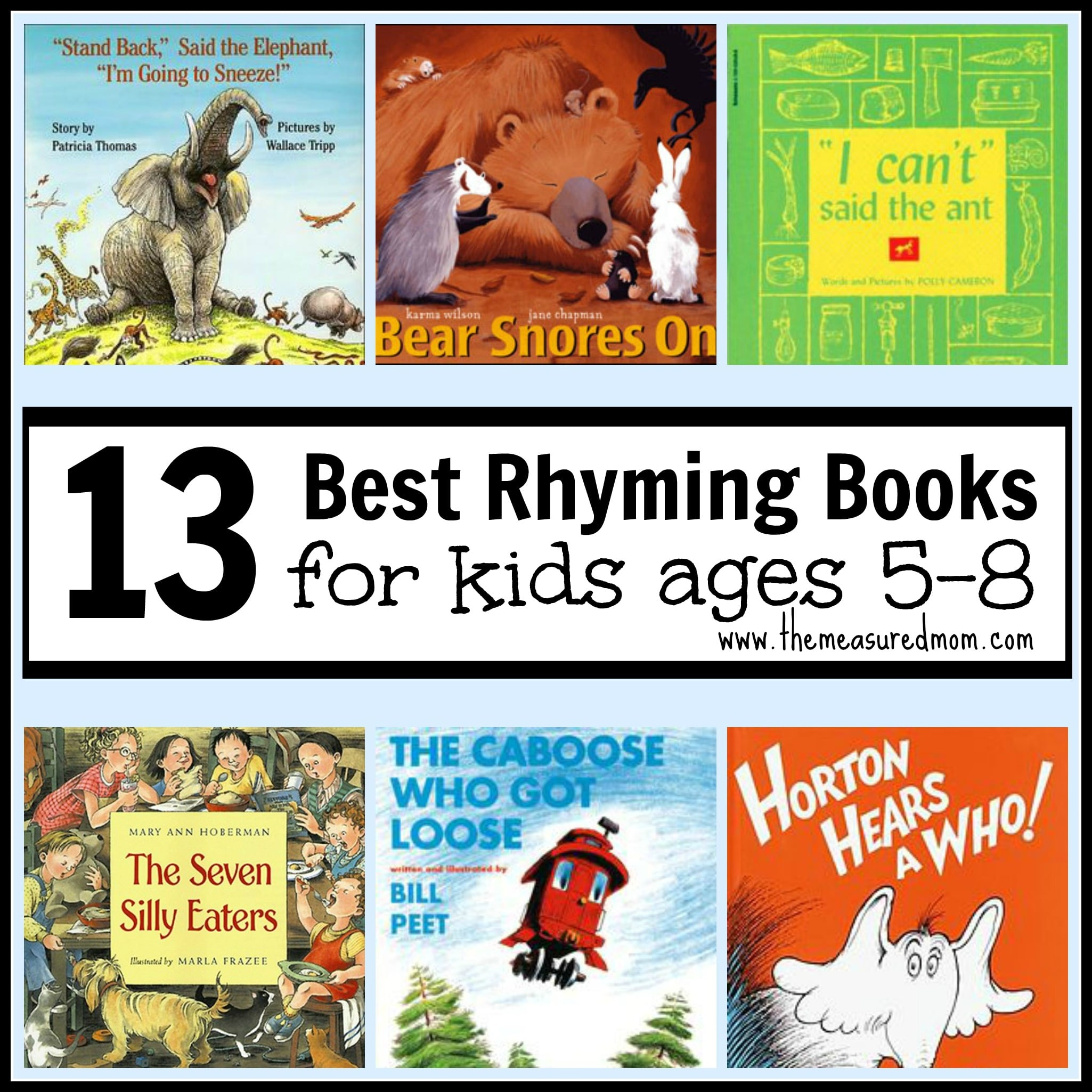 best rhyming books for kids ages 5 8 the measured mom