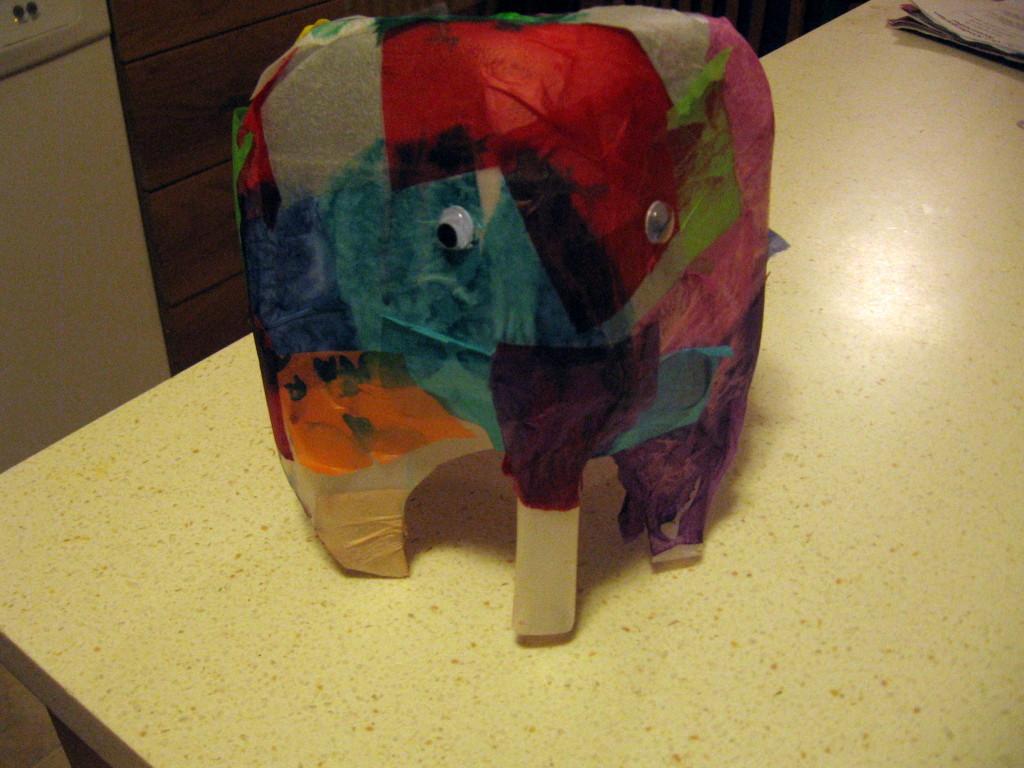 letter E milk jug Elmer