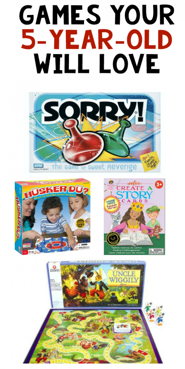 Here are our favorite board games for 5-year-olds!
