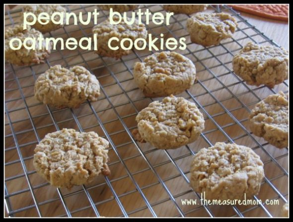 We love this recipe for healthier peanut butter cookies -- use whole grains and less sugar than you'll find in traditional recipes.