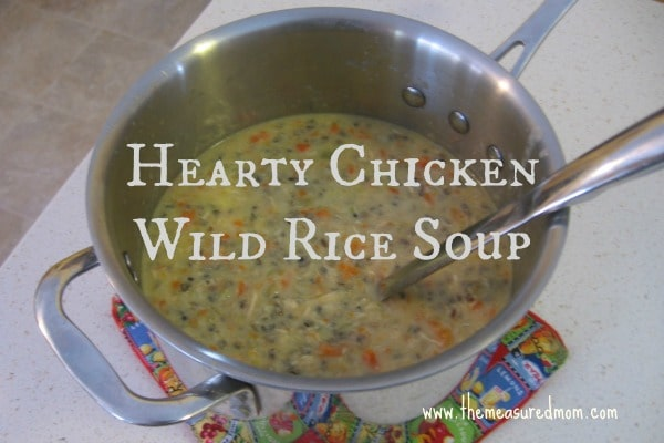 This is a family favorite that pleases everyone at our house - hearty chicken wild rice soup!