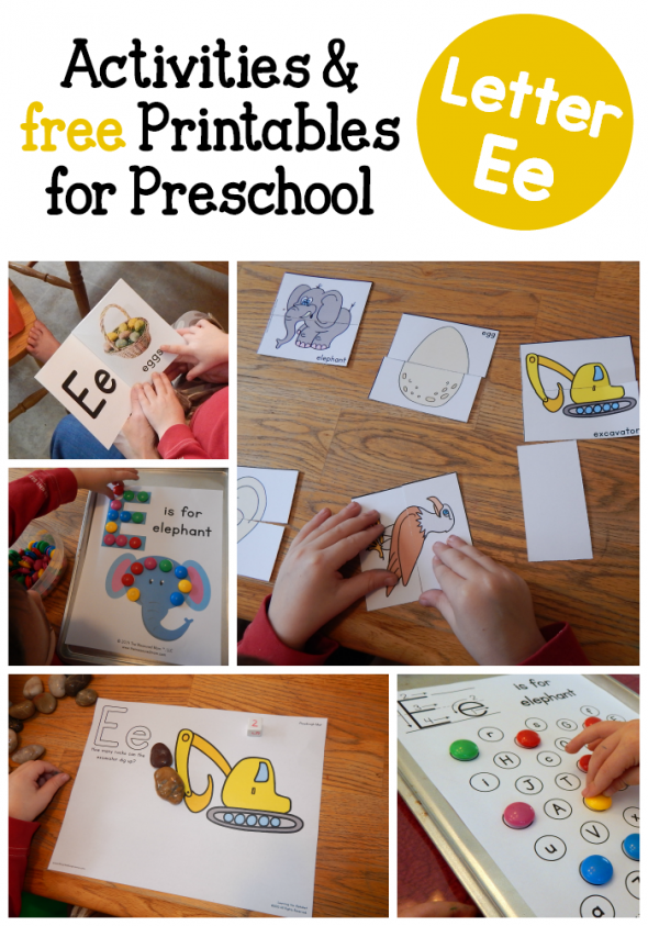 letter E activities for preschool