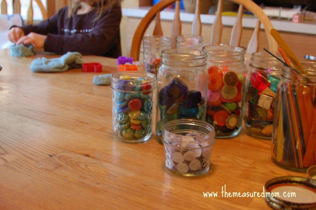 child with craft supplies