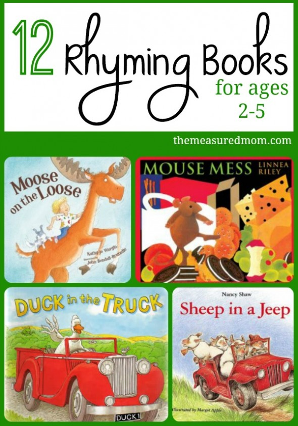 Reading rhyming books to your kids is so important for getting them ready to read. Here's a list of terrific rhyming books for toddlers and preschoolers.