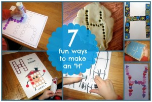 Creative ways to make the letter H