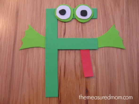 letter F foam frog