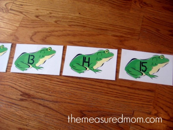 numbered frog cards ordered
