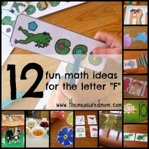 Letter F Math Activities