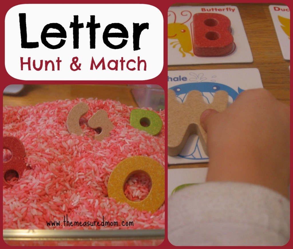 Letter Hunt & Match for toddlers & preschoolers #alphabet