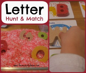 Letter Hunt & Match: A Whole Alphabet Activity for Toddlers & Preschoolers