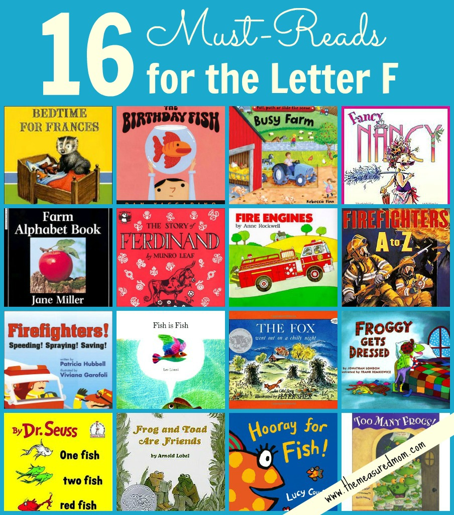 Looking for some great books to go with your Letter F study? This list of 16 books to read for letter F is full of variety.