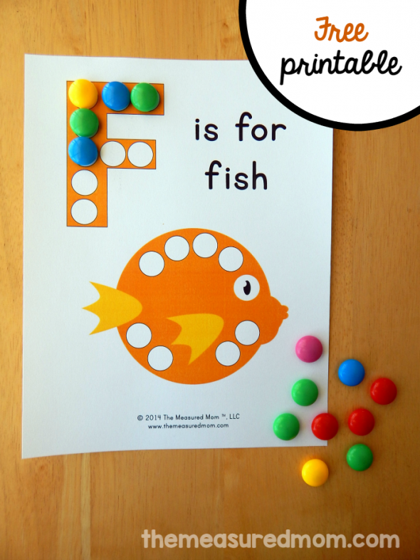 letter f printable f is for fish the measured mom