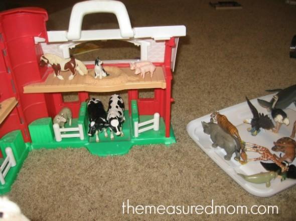 barn with animals