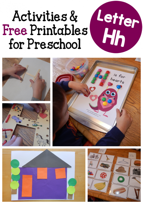 letter H activities for preschool