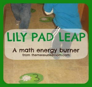 Burn That Energy! Do a Lily Pad Leap