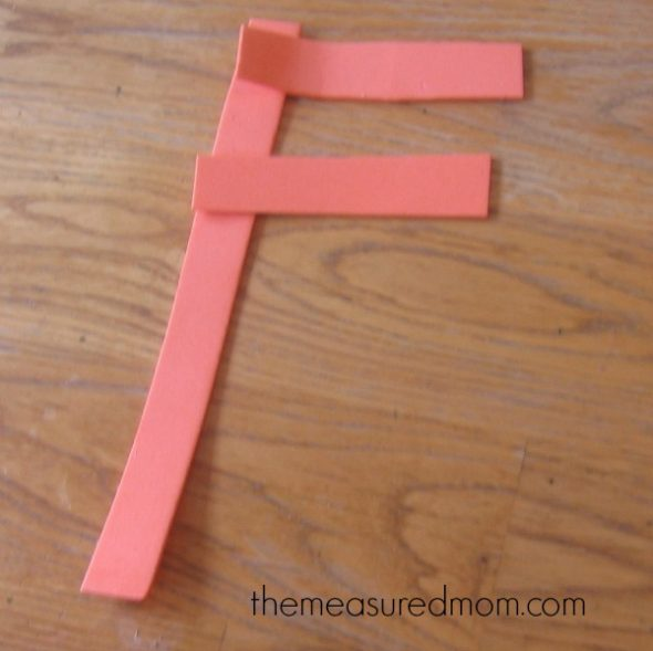 letter F made out of foam
