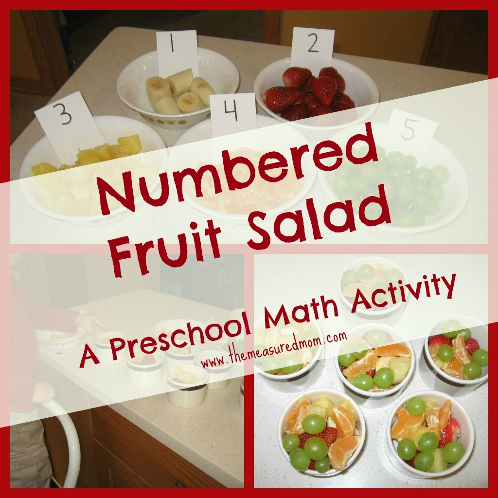 Teach counting as you're making lunch - with this numbered fruit salad. Your little one will be so proud to help make the meal while getting some math practice at the same time!