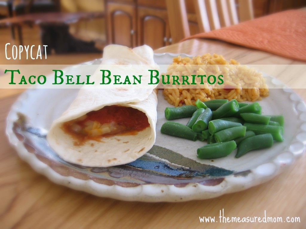 If you have tortillas, refried beans, cheese, tomato sauce, and a draw full of spices, you can make this copycat Taco Bell Bean Burrito recipe. Yum!