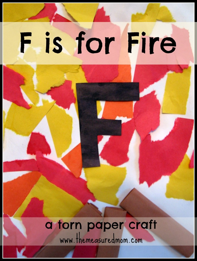 Here's a simple F is for Fire craft. You'll just need construction paper and glue!