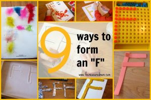 9 ways to make an F – fun fine motor practice!