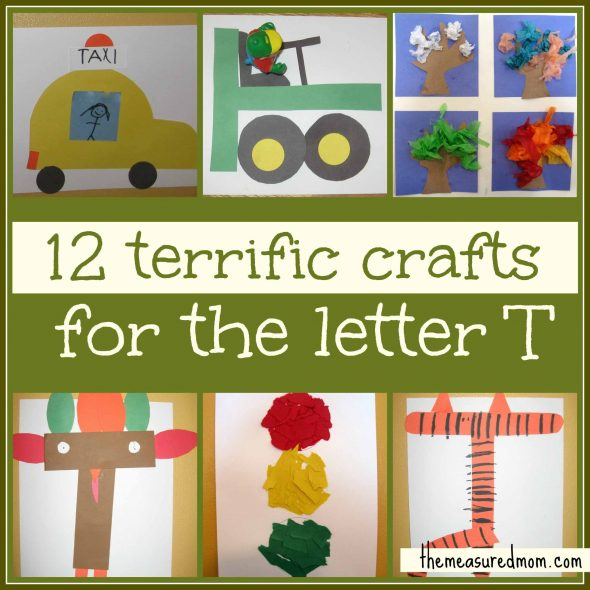 If you're looking for preschool crafts for letter T, you'll find what you need here! We've got 12 terrific craft ideas for you!