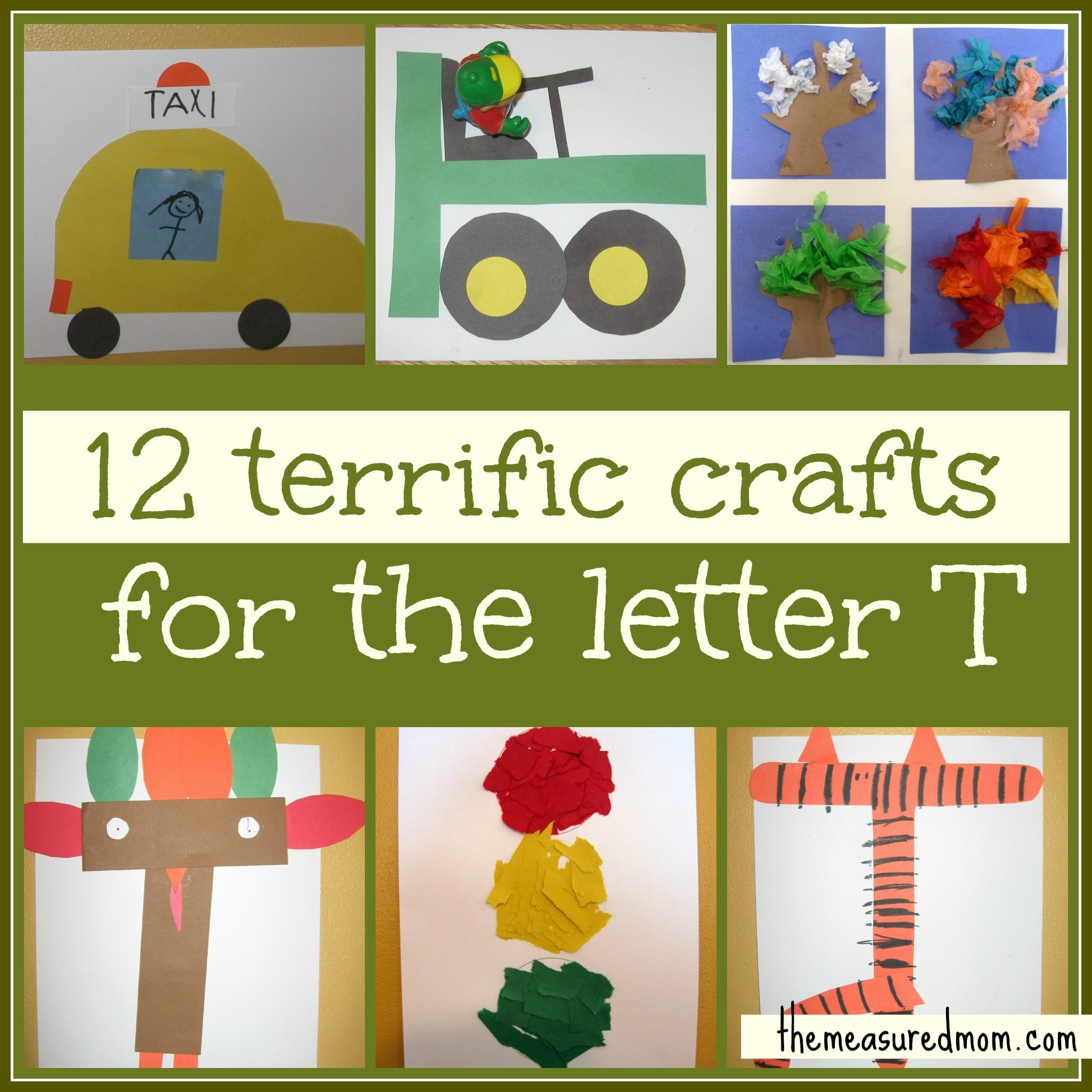 preschool crafts for letter t the measured mom. Black Bedroom Furniture Sets. Home Design Ideas