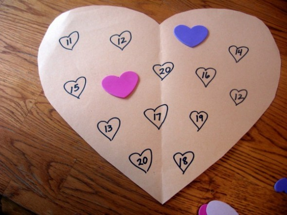 letter H heart sticker math