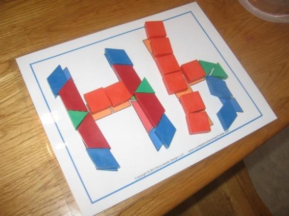 pattern block H's