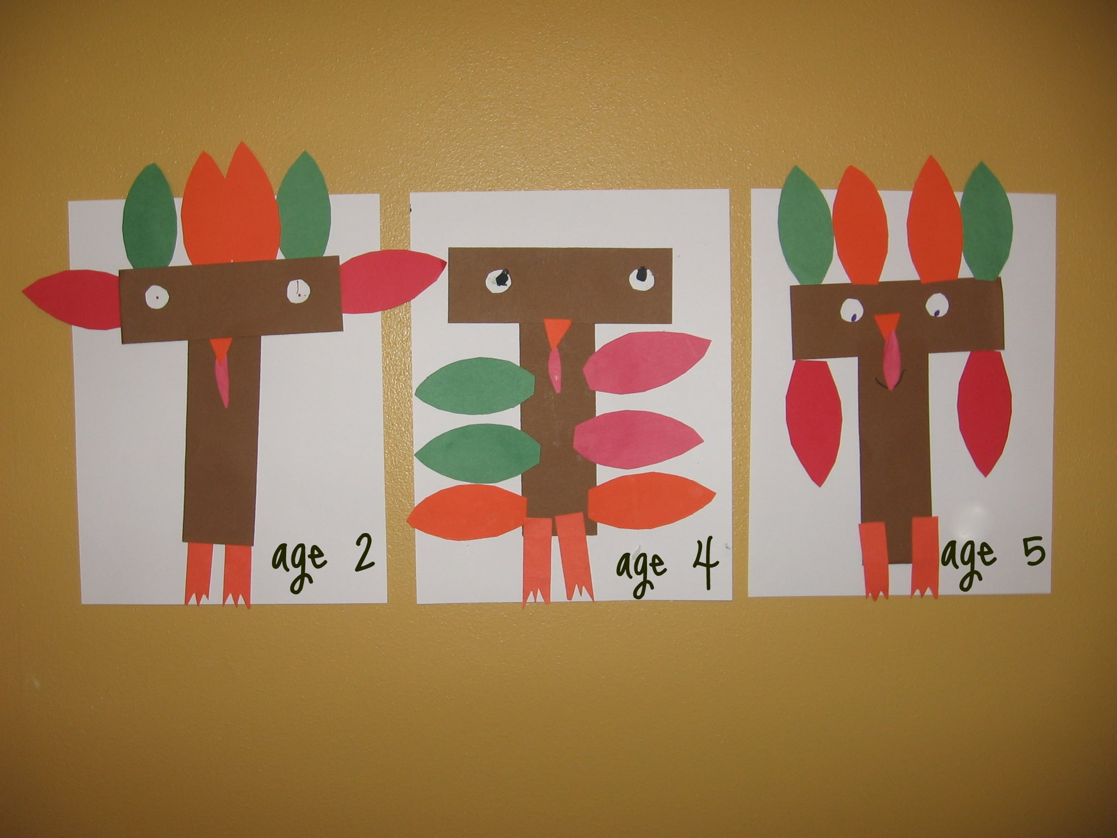 letter t cut and paste turkey ts