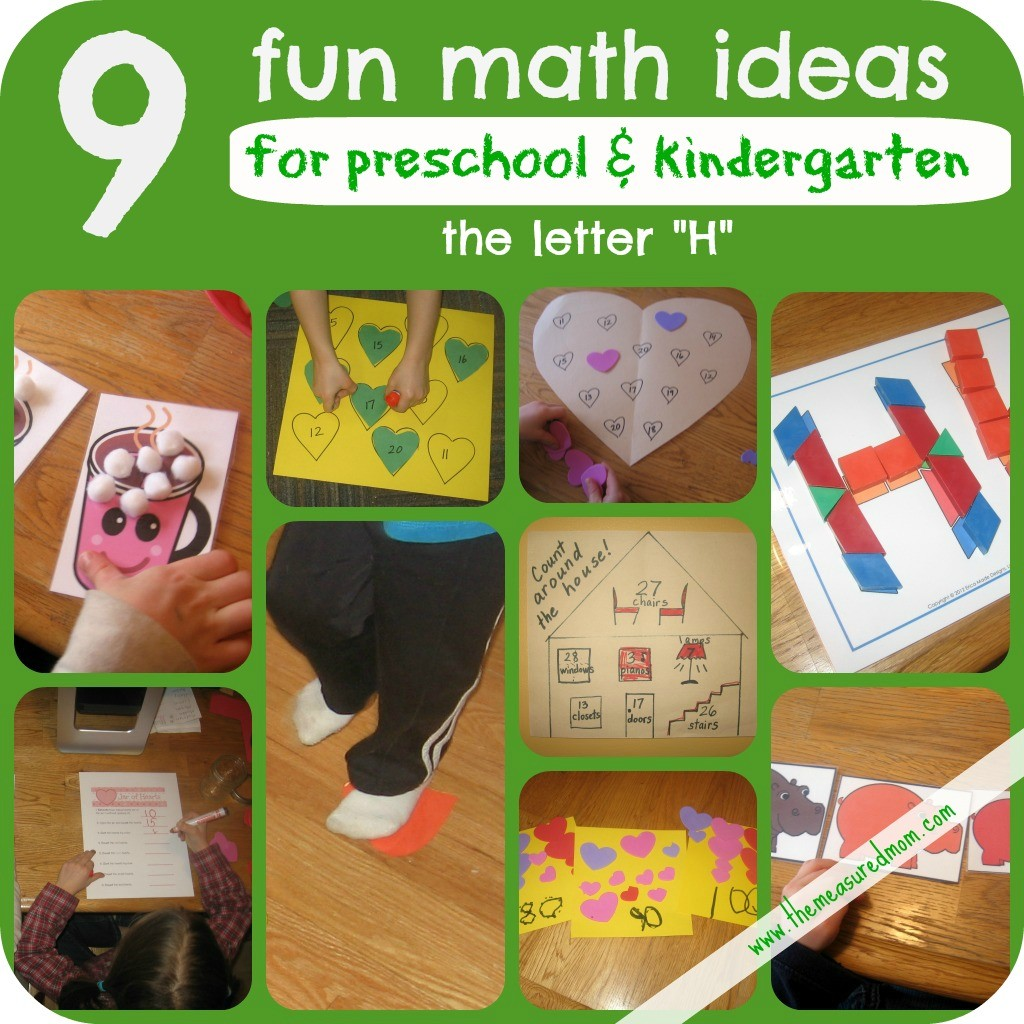 Letter H Math Activities - The Measured Mom