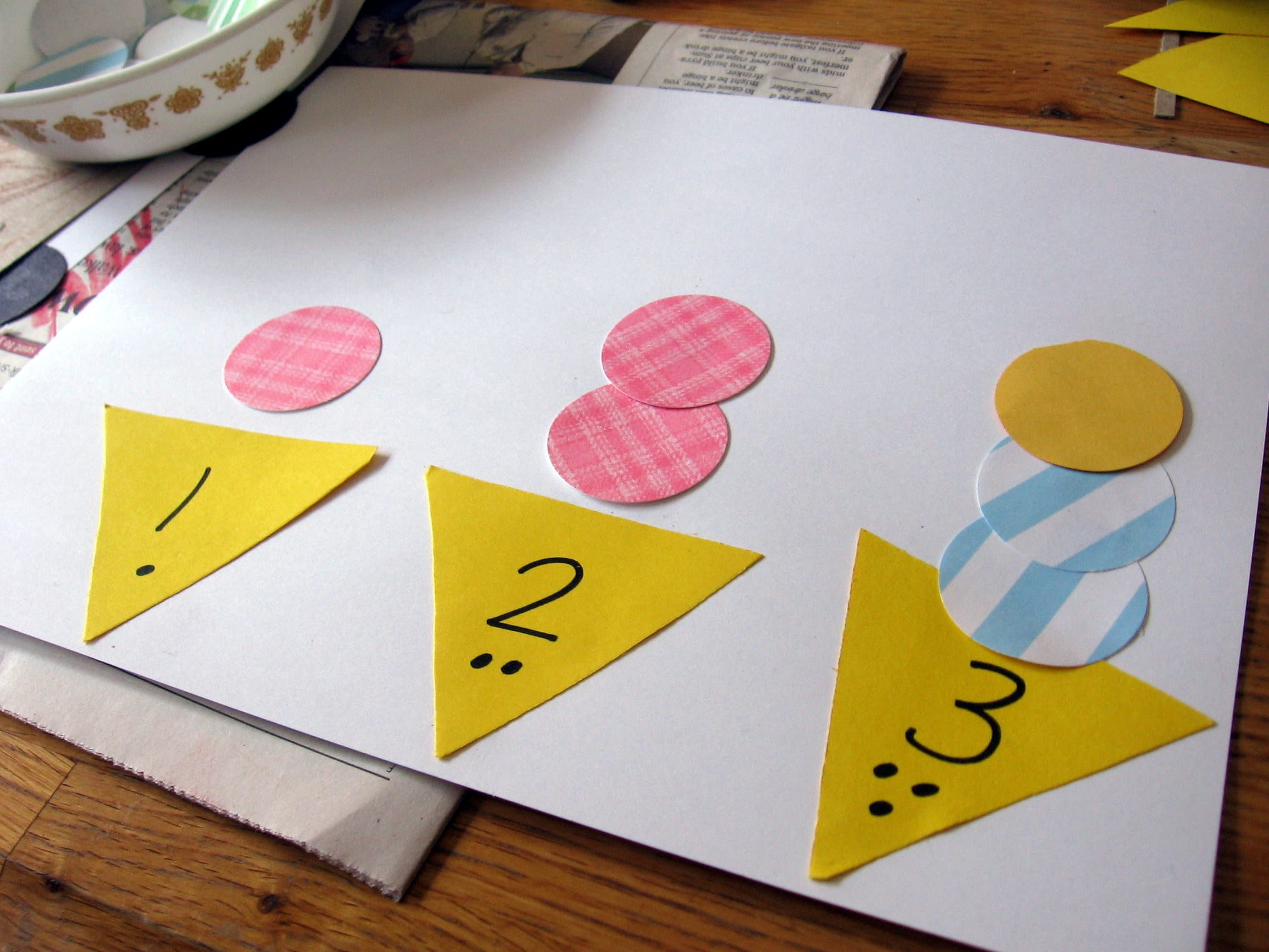 "Hands-on Math for Preschool: The Letter ""I"" - The Measured Mom"