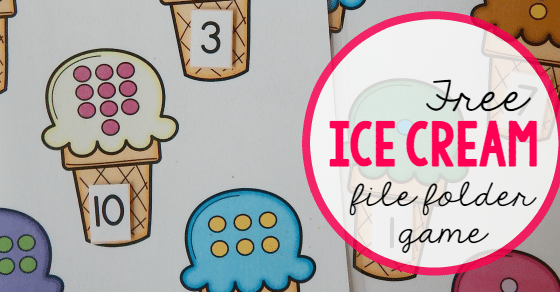 math worksheet : free file folder game for preschoolers ice cream count  match 1  : Math File Folder Games Kindergarten