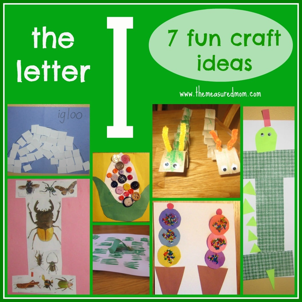 letter i craft ideas 7 crafts for the letter i the measured 4862