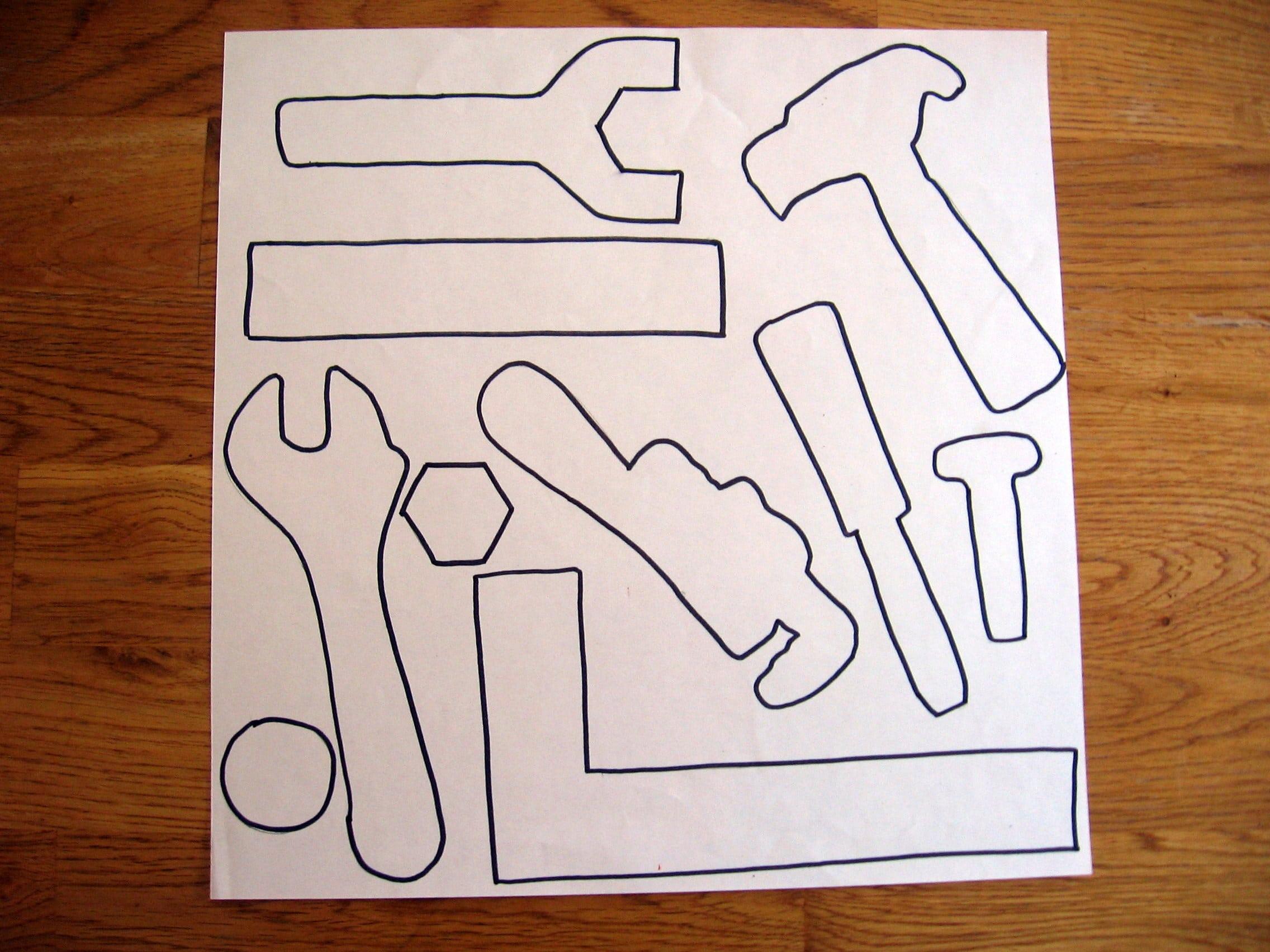 Букет, как сделать открытку с инструментами