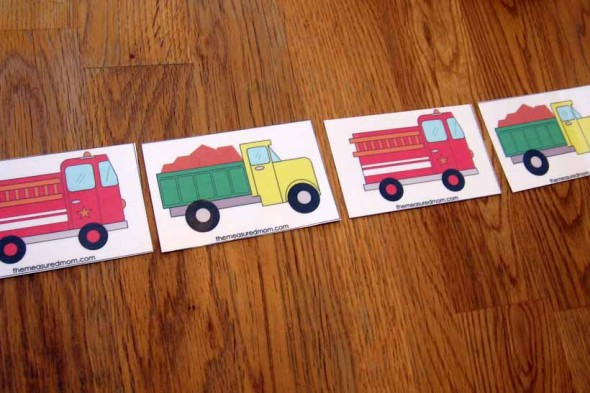 truck pattern cards