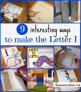 "Preschool Fine Motor Practice: Ways to Make the Letter ""I"""