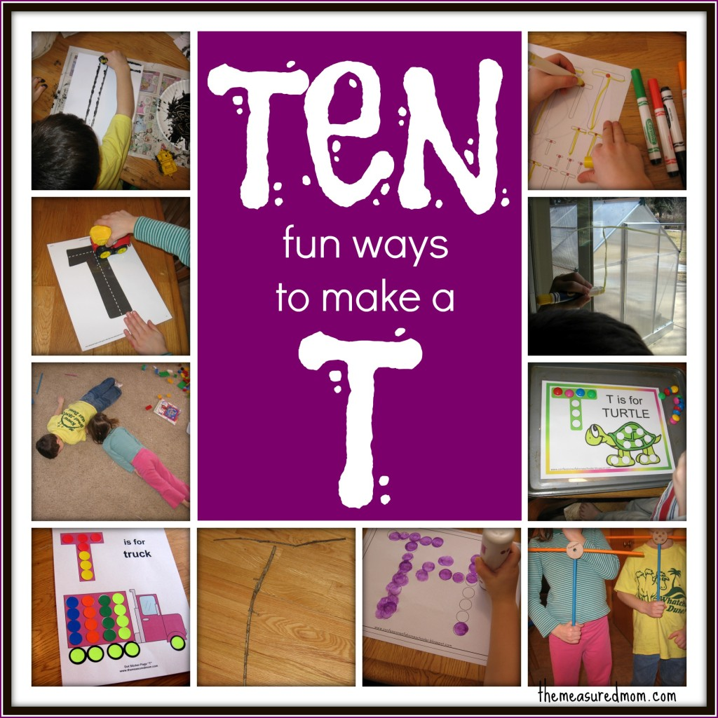 10 fun ways to make T - the measured mom