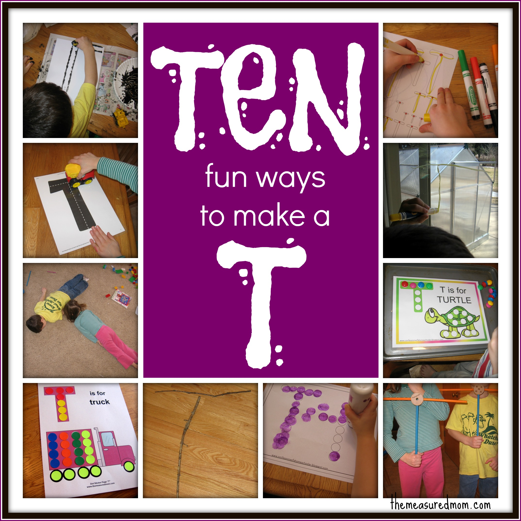 Ways To Write The Alphabet Letter T  The Measured Mom
