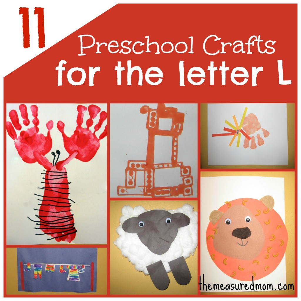 If you're looking for Letter of the Week crafts, check out The Measured Mom! In this post we share 12 crafts for preschool -- all featuring the letter L.
