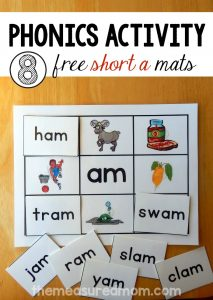8 Short a Word Family Mats – printable!