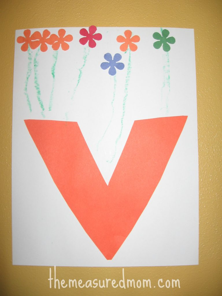 letter v craft 8 crafts for letter v the measured 23287