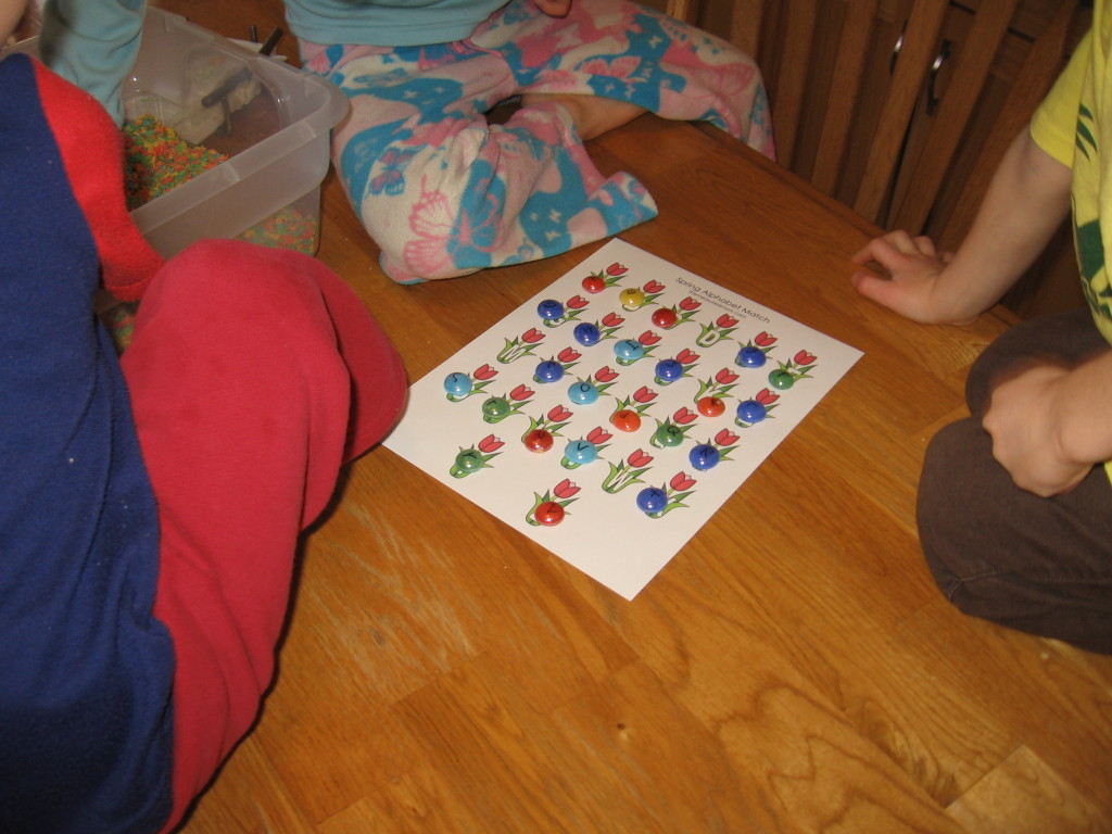 alphabet sensory bin (5) - the measured mom