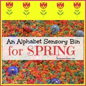 Alphabet Sensory Bin (with a Spring printable)
