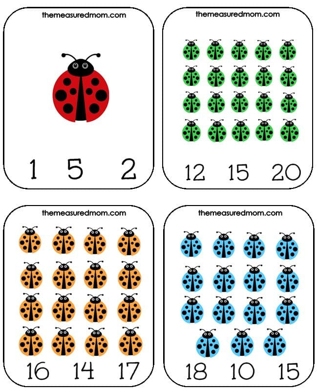 Get these free ladybug count and clip cards for #1-20! Such a fun spring themed math activity.