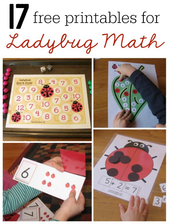ladybug math free printables 17