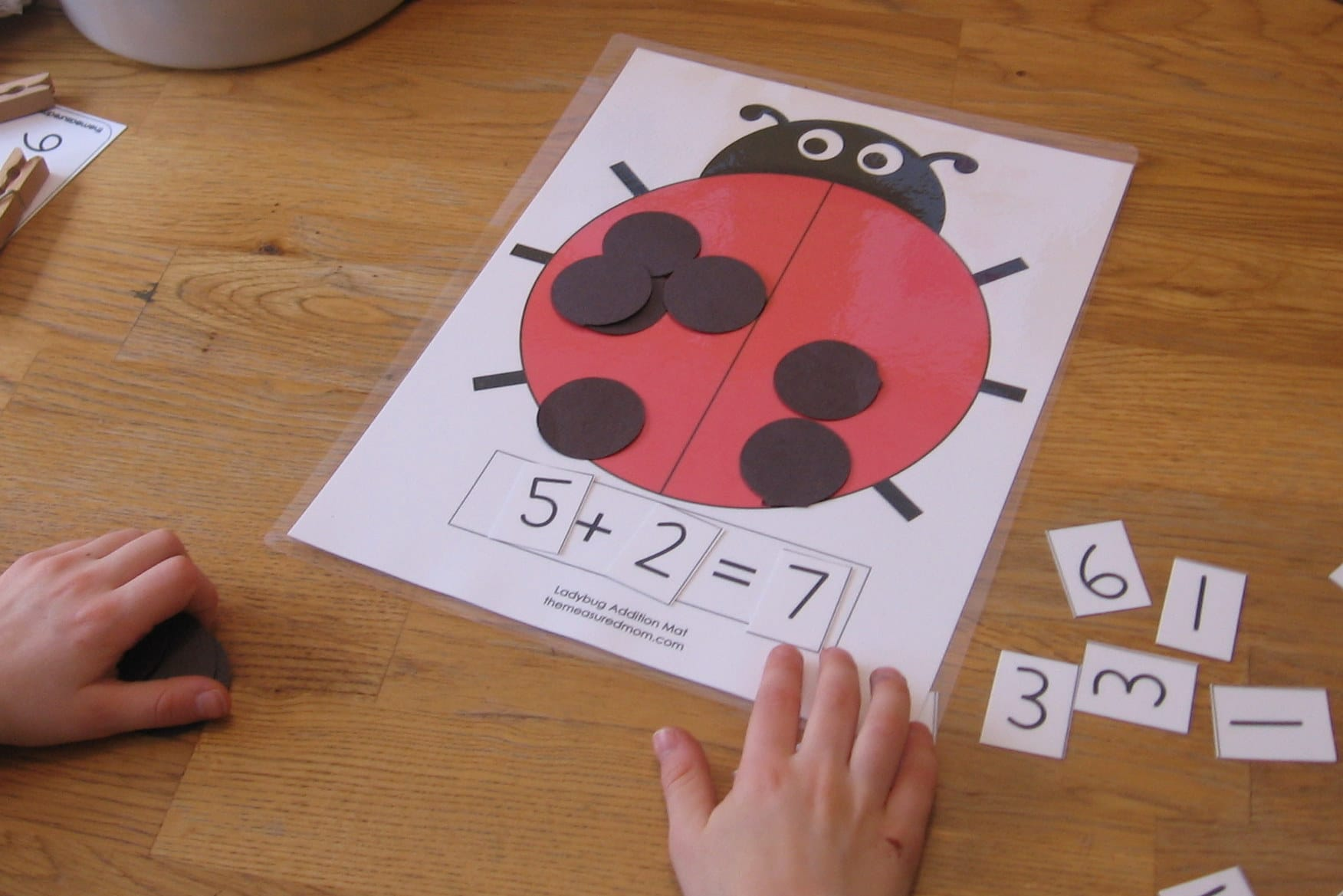 math worksheet : ladybug math for preschool kindergarten  1st grade  the  : Addition Math Games For Kindergarten