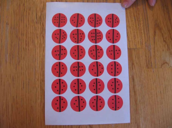 "dot sticker ""ladybugs"""