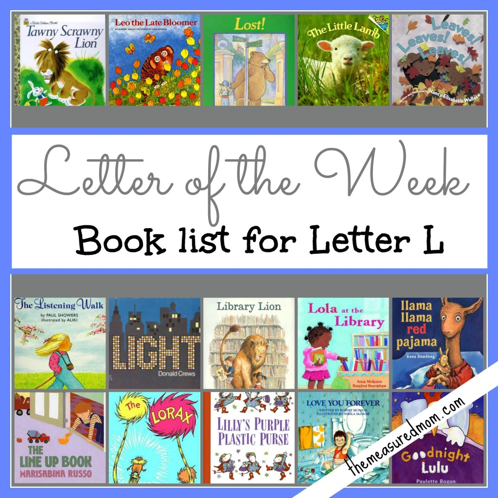 #letter of the week #book list for Letter L - the measured mom